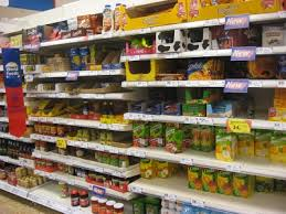 Tesco food shelf