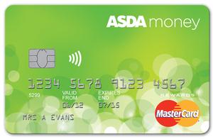 Asda cashback credit card MasterCard