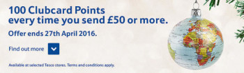 Tesco MoneyGram promotion
