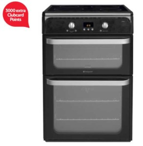 Hotpoint Ultima Electric Cooker, HUI612K, Black