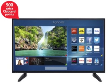 Digihome 43 Inch 287FHDDLEDCNTD FHD SMART LED TV with Freeview HD 500 extra clubcard points