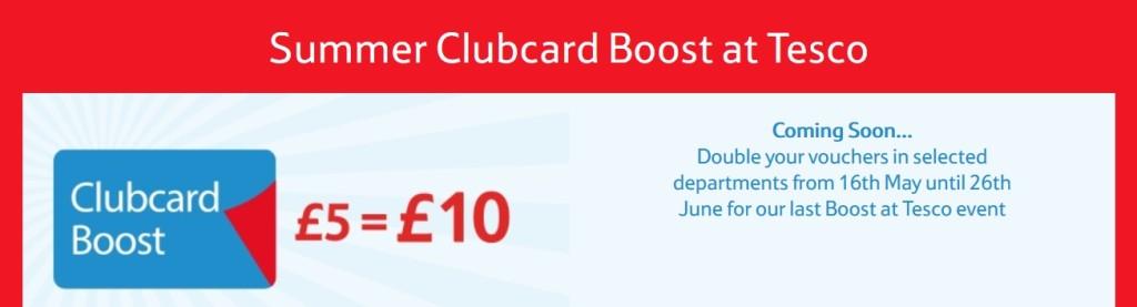 last ever clubcard boost tesco