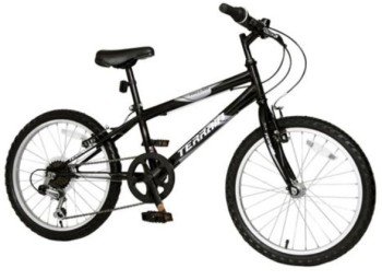Terrain Hallam 20 Kids' Mountain Bike, Black