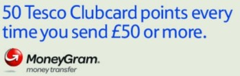 Tesco Money gram 50 clubcard points