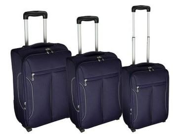 Tesco Lightest Purple Grey 3pc set suitcases