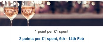 tesco grocery wine fizz double clubcard points