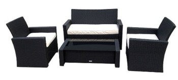 rattan 4 piece garden furniture sitting area double tesco clubcard points