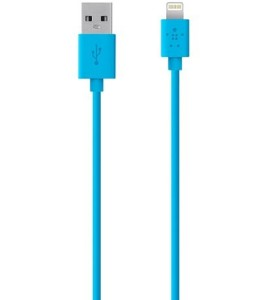blue lighting cable