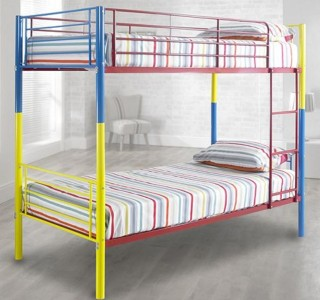happy beds metal frame bunk bed extra clubcard points