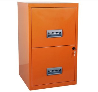 Pierre Henry A4 2 drawer Maxi Filing Cabinet Orange
