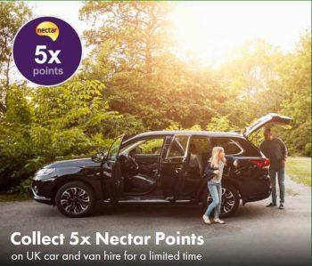 nectar europcar 5 x points