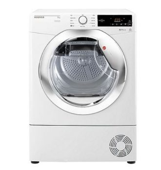 Hoover Condenser Tumble Dryer DX C8TCE - White with Chrome Door