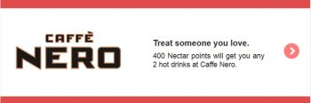 Nectar points caffe nero 400 points 2 drinks