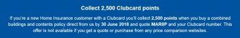 tesco bank home insurance 2500 clubcard points