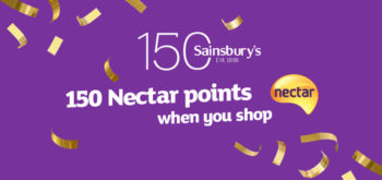Sainsbury's 150th Birthday Nectar bonus