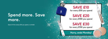 Boots bank holiday weekend promotion