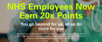 BPme Rewards offering 20x points to NHS workers!